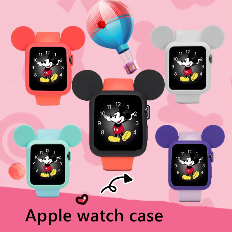 Watch Cover Case For Apple Watch 6 5 4 3 2 40MM 44MM 38mm 42mm Serilabee MIcKey Mouse Protect Tpu Cases For Iwatch Series Accessories