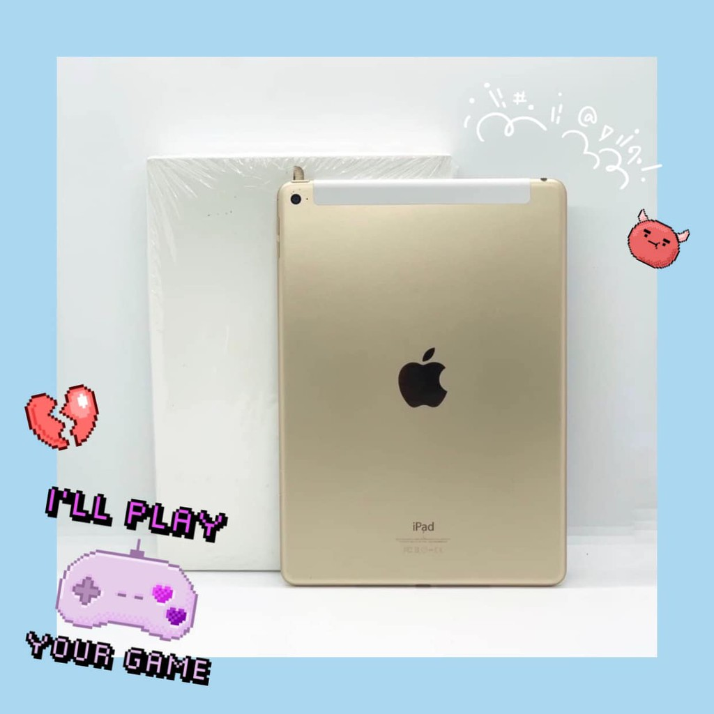 iPad Air 2 16GB Wifi + Cell สี Gold มือสอง สภาพ 95% [ไอแพด ไอแพดมือสอง ไอแพดราคาถูก iPad iPadมือสอง มือ2 ราคาถูก]