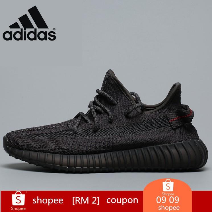 รองเท้าผ้าใบกีฬา F Adidas Yeezy 350 Boost 350 V2 Static Noir Fu9006 สีดํา
