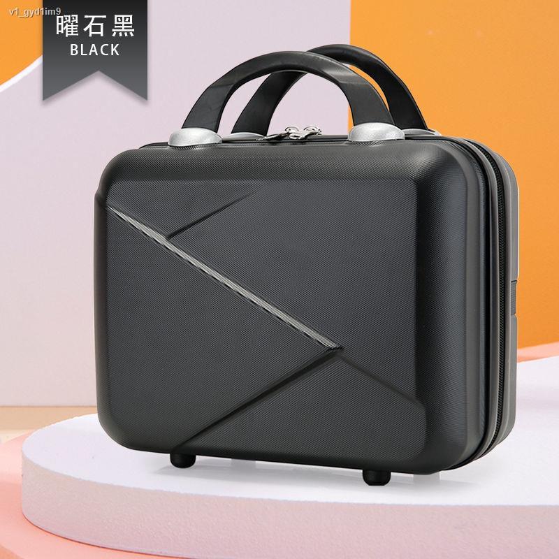 กล่องแต่งหน้า◑☫> 14 นิ้วกระเป๋าเดินทางกระเป๋าเก็บของกระเป๋าเครื่องสำอางแฟชั่นใหม่กระเป๋าถือกระเป๋าเก็บของความจุขนาดใหญ่อ
