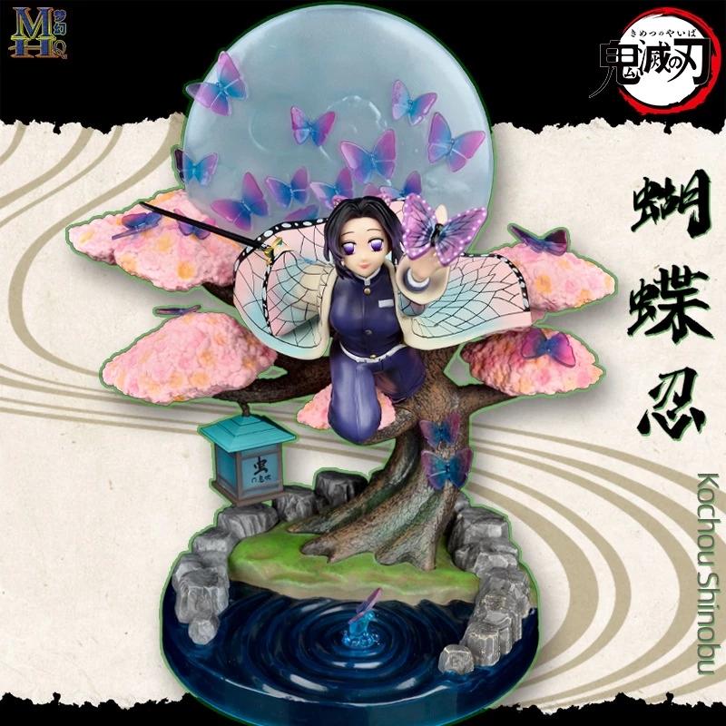 ฟิกเกอร์การ์ตูนญี่ปุ่นของเล่นของสะสม  Japanese Anime Demon Slayer Kimetsu No Yaiba Kochou Shinobu Flying Type Collection Statue Figure Model Toy
