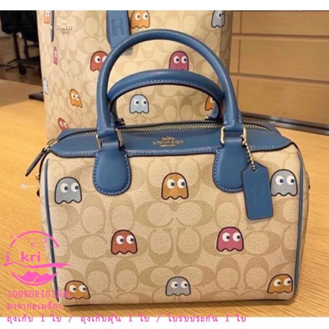 กระเป๋าสตางค์ใบสั้น✹♈✈ใหม่ Coach F73067 ของแท้ 100% กระเป๋าถือสุภาพสตรีแฟชั่นทรงหมอนกระเป๋าสะพายผู้หญิง กระเป๋าหนัง ถุงก