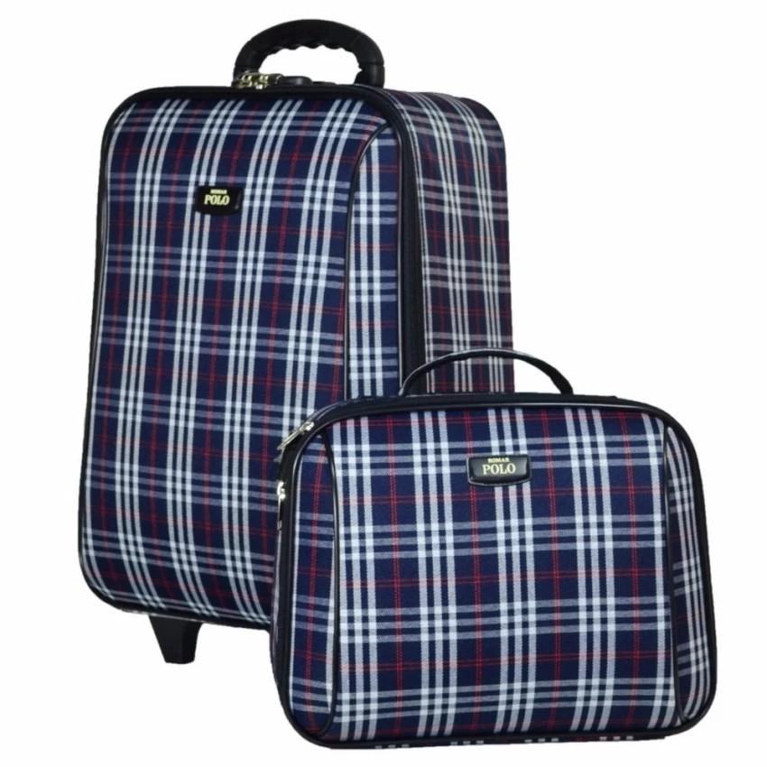กระเป๋าเดินทาง กระเป๋าเดินทางล้อลาก Romar Polo  20/14 นิ้ว เซ็ทคู่ Code 373-5 Scott (Blue) กระเป๋าล้อลาก กระเป๋าเดินทาง