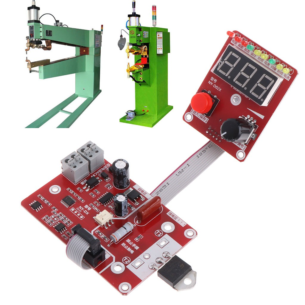 100A Spot Welding Machine Time Current Controller Control Panel Board Module Red