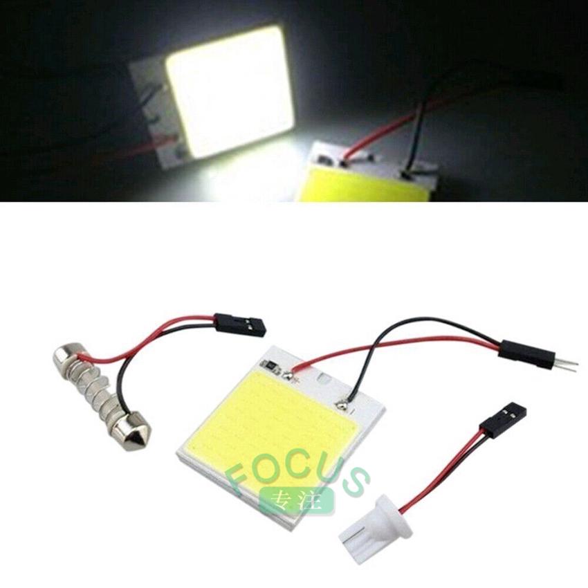 1x48 smd cob แผงไฟ led t 10 12 v ทรงโดมสําหรับติดตกแต่งภายในรถยนต์ 4 w (focus)