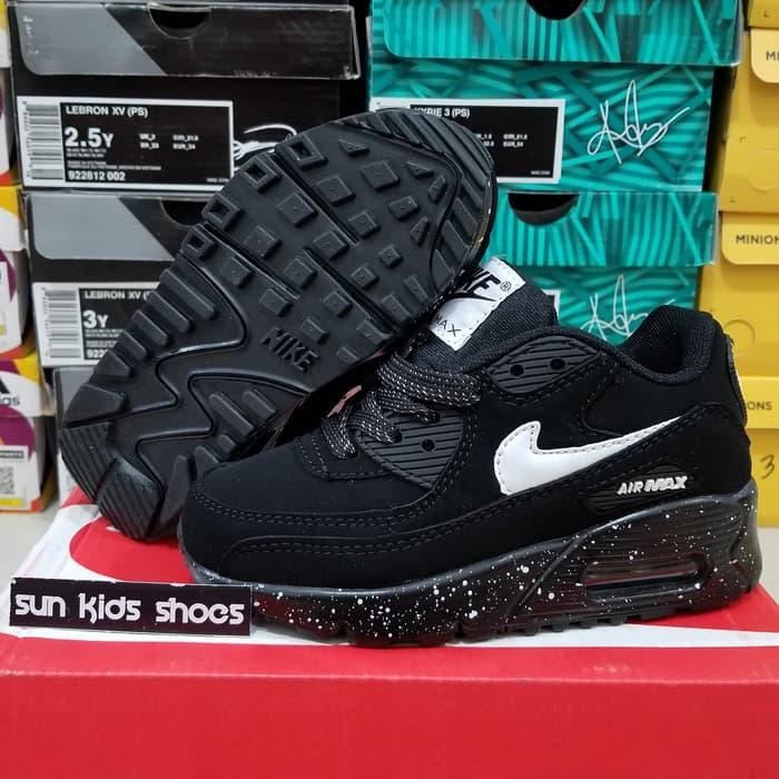 Nike Air Max Tiny 90 รองเท้าผ้าใบลําลองสําหรับเด็ก Nike Air Max Tiny 90 สีดํา/ขาว