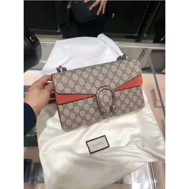 [GR]เคาน์เตอร์แท้ Gucci Dionysus GG ซีรีส์กระเป๋าถือขนาดกลางกระเป๋าถือโซ่ขนาดกลางกระเป๋าสะพายกระเป๋าสะพ