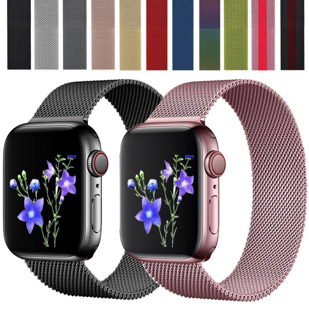 สายนาฬิกาข้อมือสแตนเลสสําหรับ Apple Watch 6 5 Band 44 มม . 40 มม . Iwatch Series 4 3 2 1 38 มม . 42 มม .