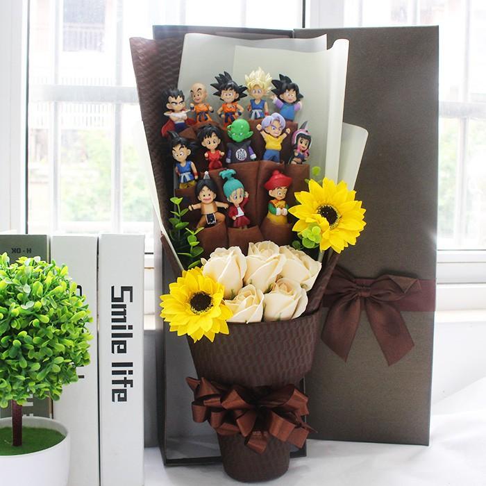 Graduation ช่อดอกไม้ Dragonball ตุ๊กตาของขวัญ