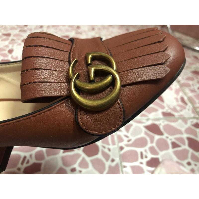 ✰รองเท้าคัชชูกุชชี่แท้ รองเท้ามือสอง ของจริงสวยมาก♖