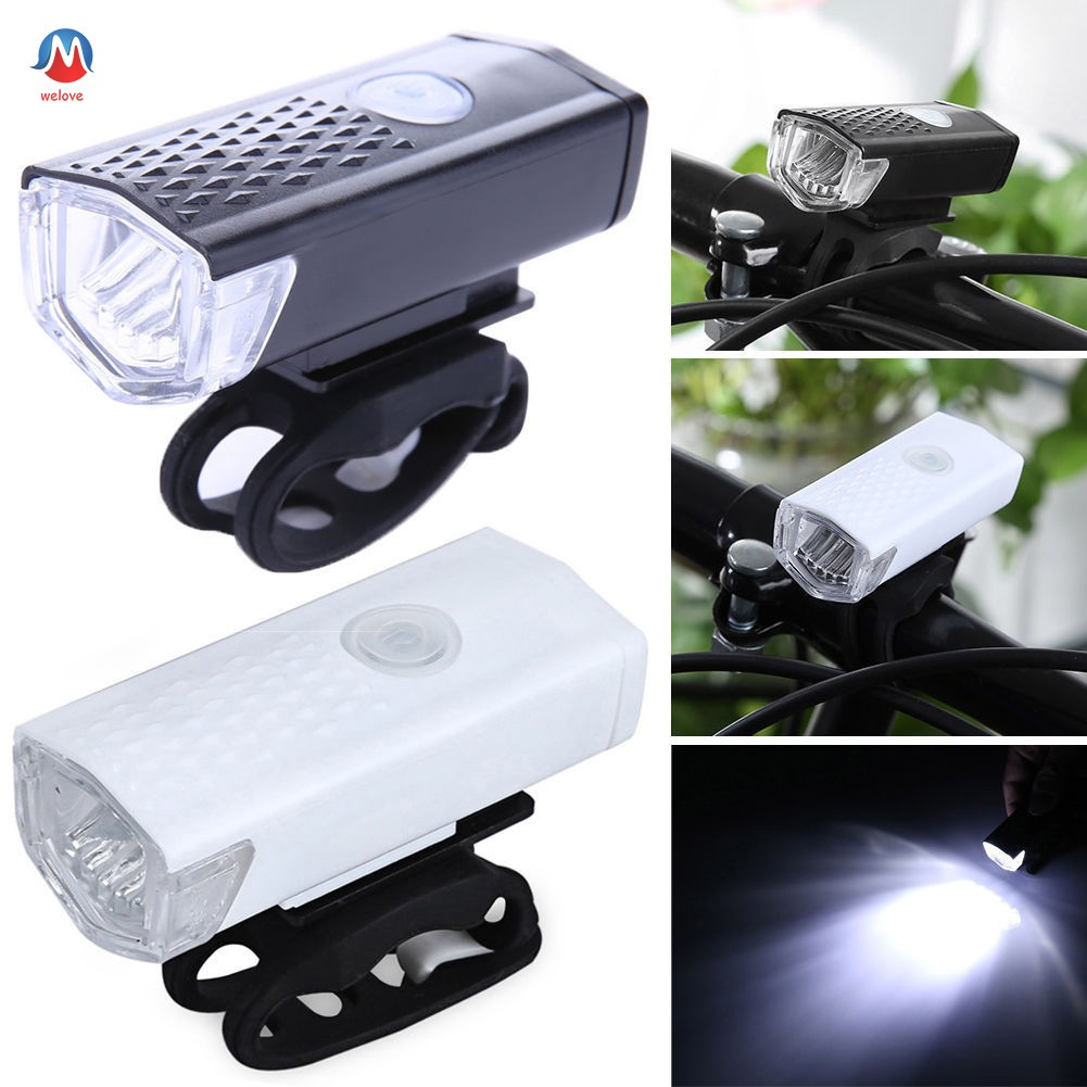 USB Rechargeable LED Bicycle Headlight Bike Head Light Front Lamp Cycling 3Modes