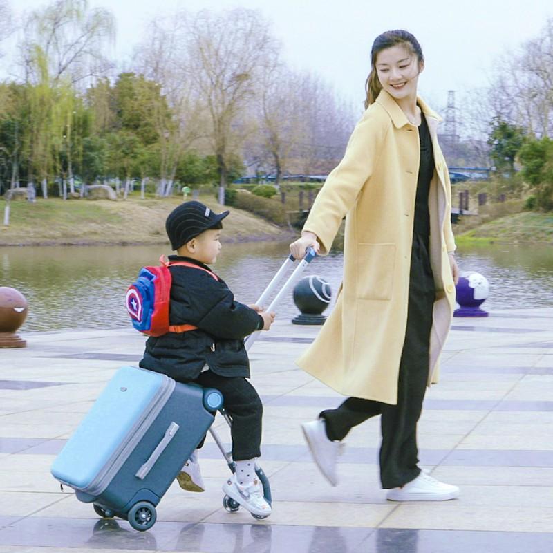 ⅾ・ กระเป๋าเดินทางพกพา  กระเป๋ารถเข็นเดินทางกระเป๋าเดินทางเด็ก เด็ก Gelingtong สามารถนั่งและขี่บนกระเป๋าเดินทางเด็กผู้ชาย