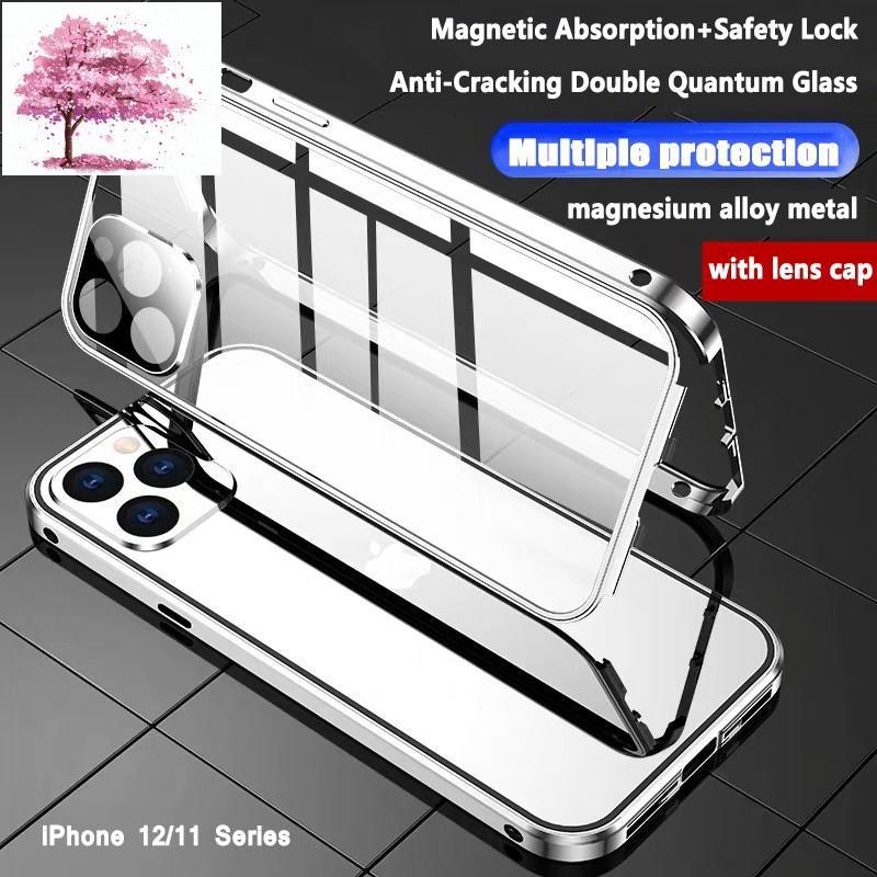 เคสโทรศัพท์มือถือแบบประกบสองด้านสําหรับ Iphone 12 Pro Max 12 Mini Iphone 11 Pro Max