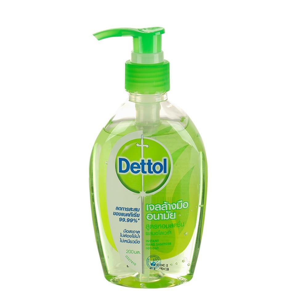 เจลล้างมืออนามัย DETTOL ผสมอโลเวล่า 200 มล.