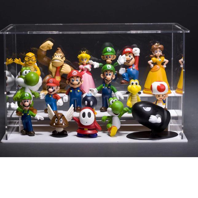 'Mario Bros Figure ชุด 18 เส้น / Mario Bros ของเล่นสําหรับเด็ก (เทรนด์)