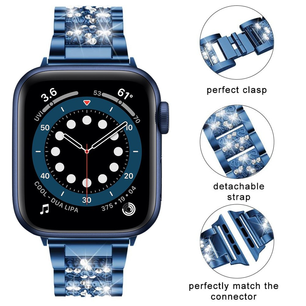 สาย applewatch ายนาฬิกา applewatch สายนาฬิกาข้อมือสีฟ้าสําหรับ Apple Watch 6 5 4 Se 40 มม . 44 มม . Iwatch Series 6 5 4