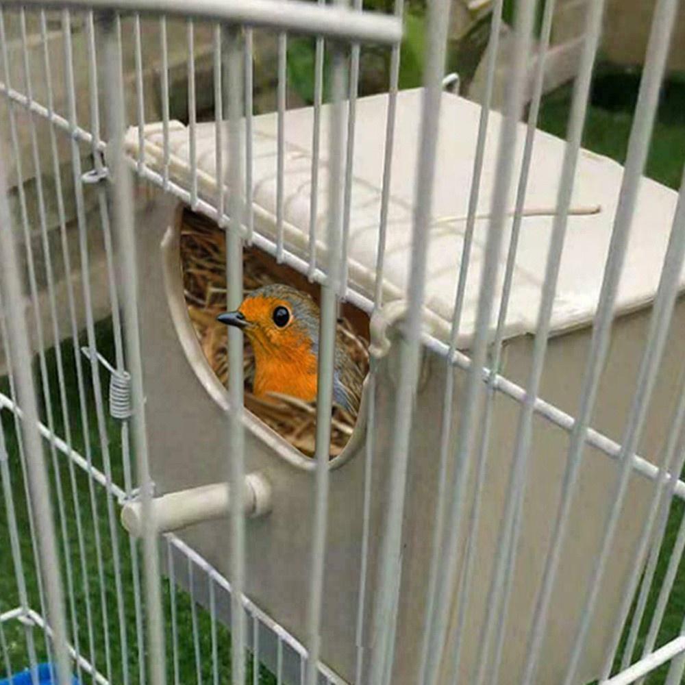 Lifedecor XJF บ้านนกพร้อมตะขอ 2 ตะขอ, กล่องรังนกแก้ว, กล่องรังนก, กล่องเพาะพันธุ์นกแก้ว