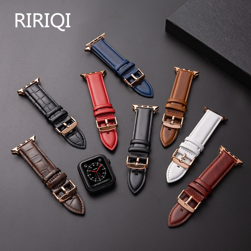 Please COD Leather Watch Strap Soft and Fine Apple Watch 5 Strap Series 3/2/1 Sports Leather Bracelet Leather Strap 42mm