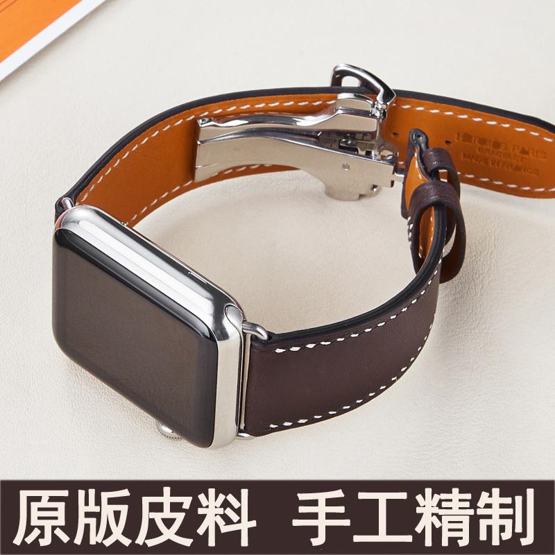 わぢสายนาฬิกา iWatch ทำด้วยมือหนัง applewatch สายนาฬิกาสำหรับ Apple series6/54/321
