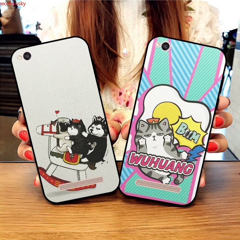 Samsung A3 A5 A6 A7 A8 A9 Pro Star Plus 2015 2016 2017 2018 Lazy cat Silicon Case Cover