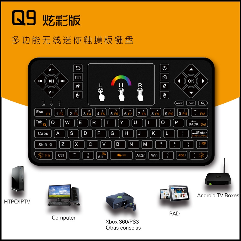 ✺▽☒i8 wireless Keyboard Mini 2.4G bluetooth backlit Mouse All-in-one machine | Shopee Thailand