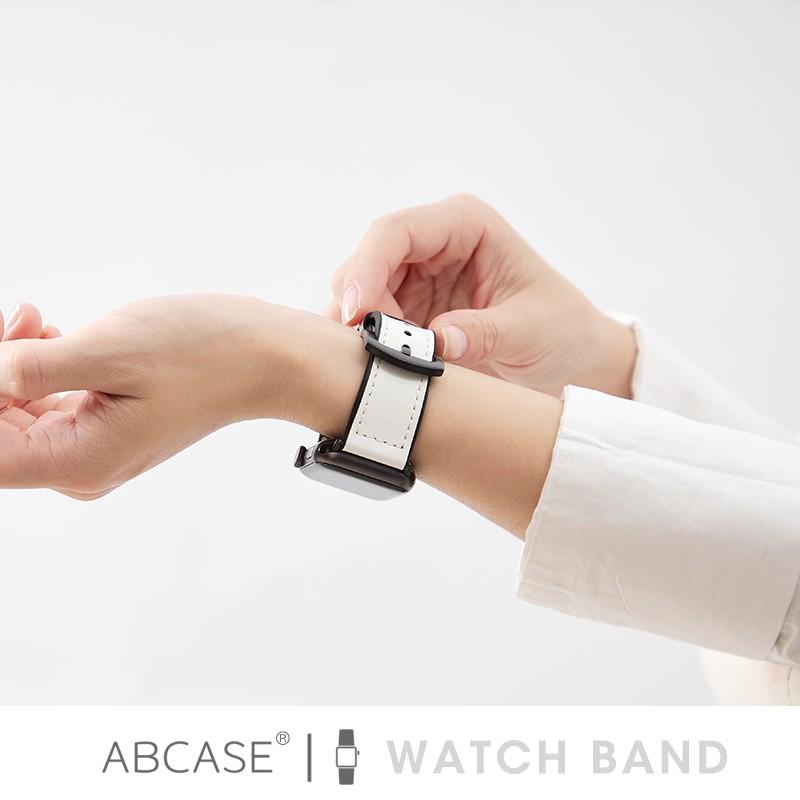 applewatch6 เข็มขัด♗™ABCASE ใช้ได้กับสาย Apple Watch iwatch Official Leather Applewatch 6/4 สายแฟชั่น 3 / SE สายซิลิโคน
