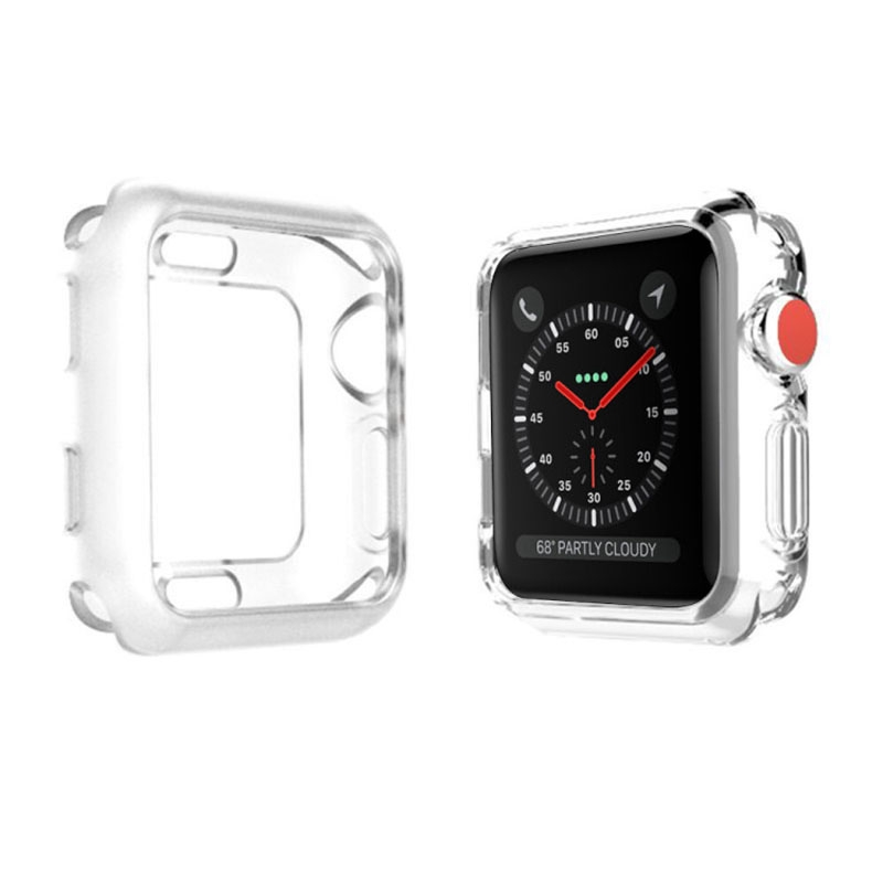 Screen Touchable Watch Protect Case Apple Watch 5 4 3 2 1 44mm 42mm 40mm 38mm cover Soft Transparent Ultra-thin Silicone Protector