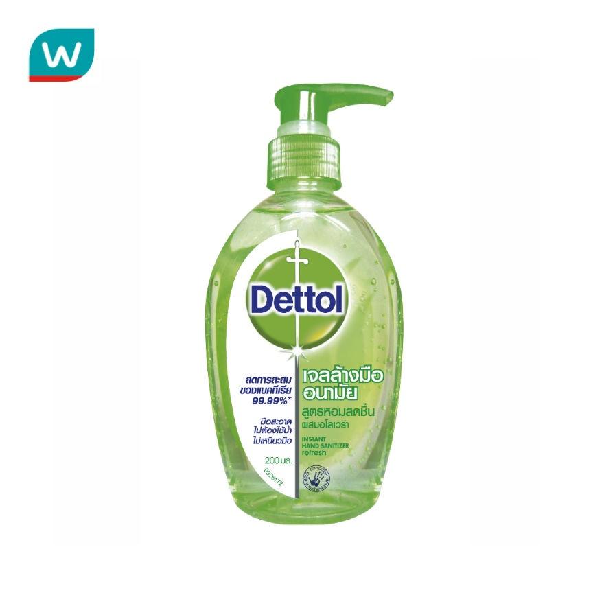 Dettol เดทตอล เจลล้างมืออนามัย 200 มล.เจลล้างมือ
