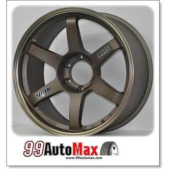 """99 Automax ล้อแม็กซ์ TE37ขอบ20 พร้อมยาง265/50/20 สีดำทองสหนิมพร้อมยาง"""""""