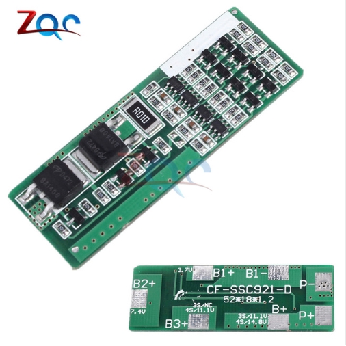 4S 8A Polymer Lithium Battery Charger Protection Board For 4 Serial 4pcs or  3 7 Li-ion Charging Protect Module BMS