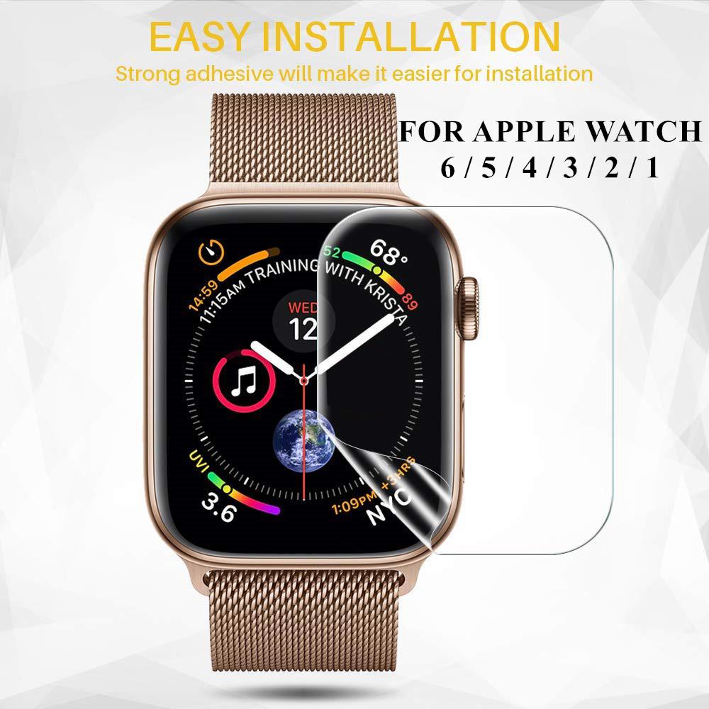 ฟิล์มกันรอยสำหรับ Apple Watch Iwatch 6 5 4 40 มม. 44 ไม่ใช่กระจกนิรภัยสำหรับ Apple Watch 3 2 38 42 นาฬิกาสมาร์ทวอทช์ นาฬิกาเด็กผู้หญิง Apple Watch Series สาย Applewatch