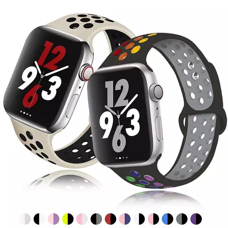 สาย สำหรับ Apple Watch  Sport Band Series 1,2,3,4,5,6 Nike watch 1/2/3/4/5/6