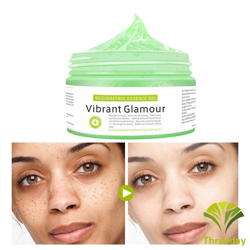 3D❤ Moisturizing Face Cream Skin Care Salicylic Acid Dracaena Essence Resveratrol Essence Face Mask