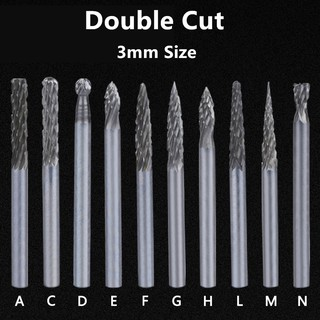 Plastic Burr Deburring Kit With 10pc Router Bit Rotary Blades Set Hand Remover