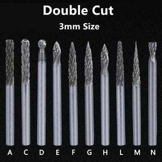 "10X Long Reach Double Cut Carbide Rotary Burr Set 1//8/"" Shank Polishing Bits Tool"