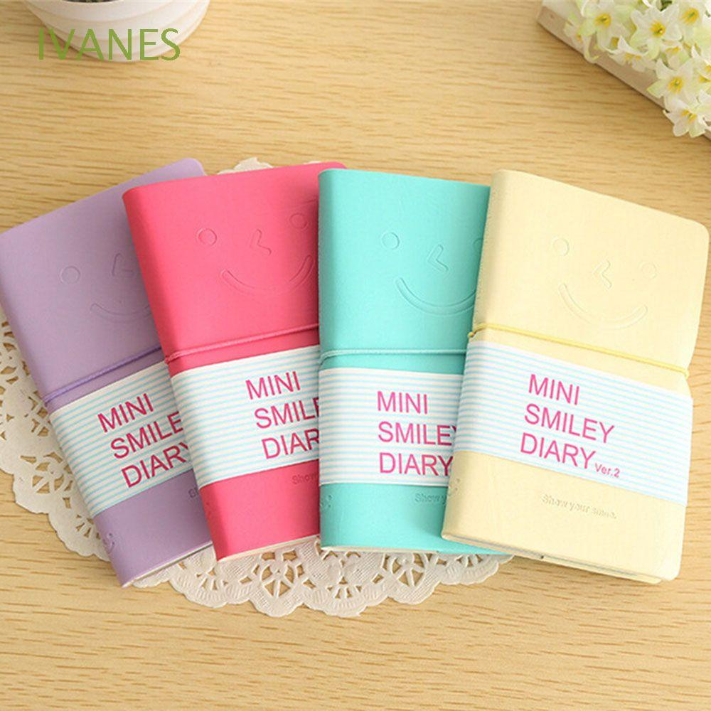 IVANES New Arrival Diary Memo Notebook Creative Diary Books Smile Note Book Office School Supplies Fashion Practice Paper Scratch Pad Stationery Writing Pads/Multicolor