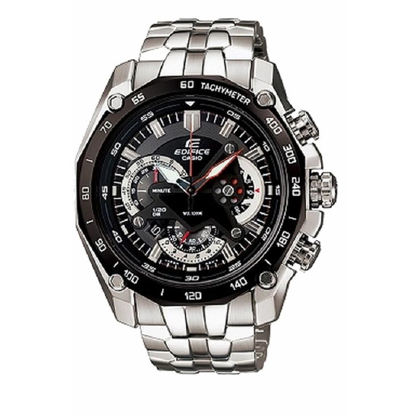 Casio Edifice นาฬิกาข้อมือผู้ชาย สายสแตนเลส รุ่น EF-550D-1AVDF - Silver/Black