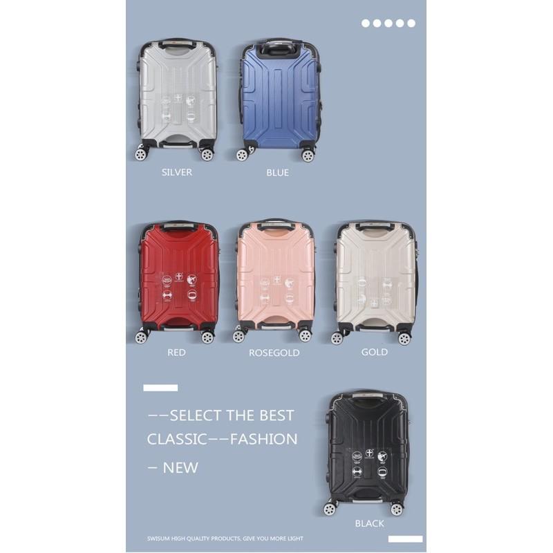 """กระเป๋าเดินทางล้อลาก กระเป๋าล้อลาก กระเป๋าลาก Luggage กระเป๋าล้อลาก/ขยายได้#ซิปกันขโมย#4ล้อคู่/กระเป๋าเดินทาง /ไชส์20""""24"""