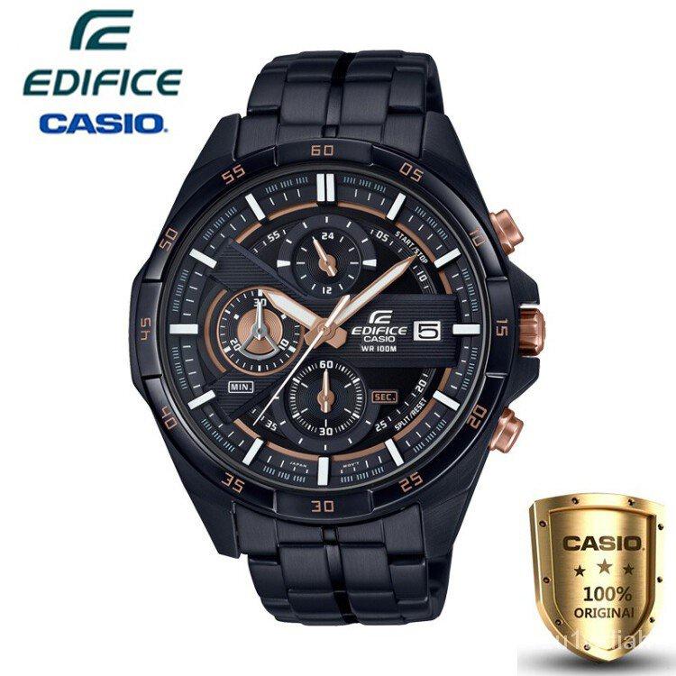 Casio Edifice นาฬิกาข้อมือผู้ชาย สายสแตนเลส รุ่น EFR-556DC-1A - สีดำ(ของแท้100% )