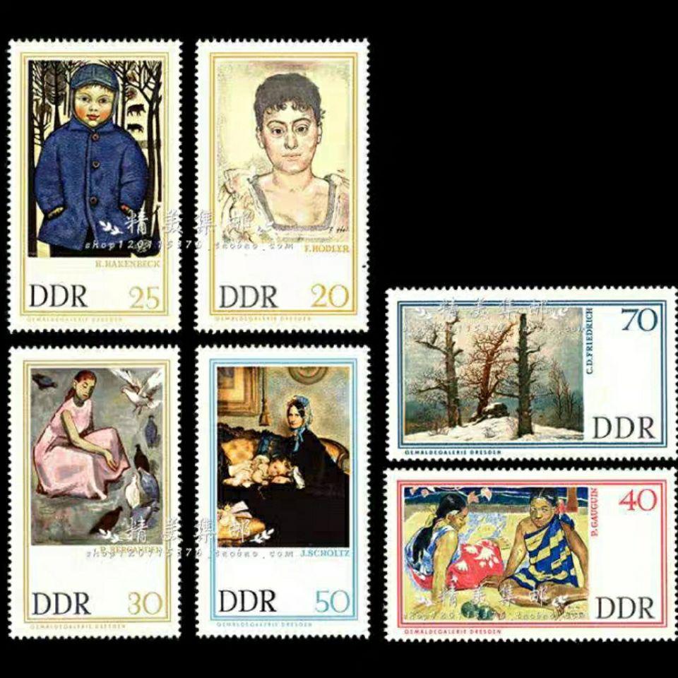 ทบทวนเยอรมัน เยอรมันตะวันออก1967ปี เดรสเดน藏画 โมเดิร์นศิลปินจิตรกรรม แสตมป์6ของใหม่  แสตมป์