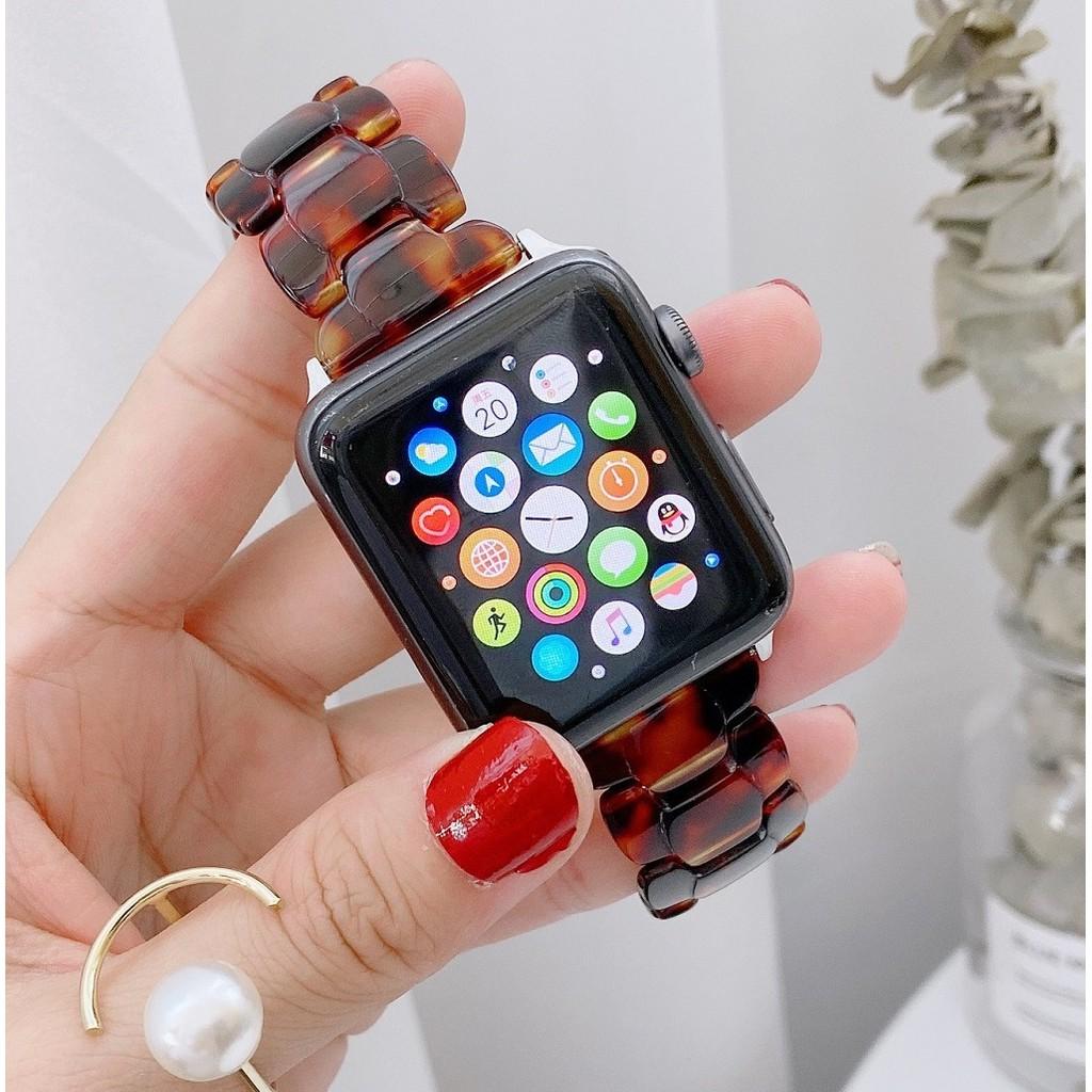 สายนาฬิกา Apple Watch Resin Straps เรซิน สาย Applewatch Series 6 5 4 3 Apple Watch SE Stainless Steel สายนาฬิกาข้อมือ for apple watch Series6 ,Series5,Series4 ,Series3, Series2 Watch band iwatch size 38mm 40mm 42mm 44mm
