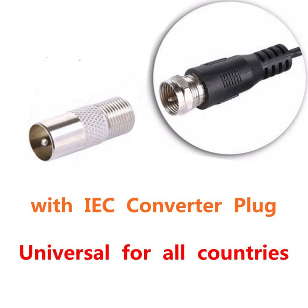 F-Connector Male to IEC Coax Female Low Noise Adapter TV Aerial