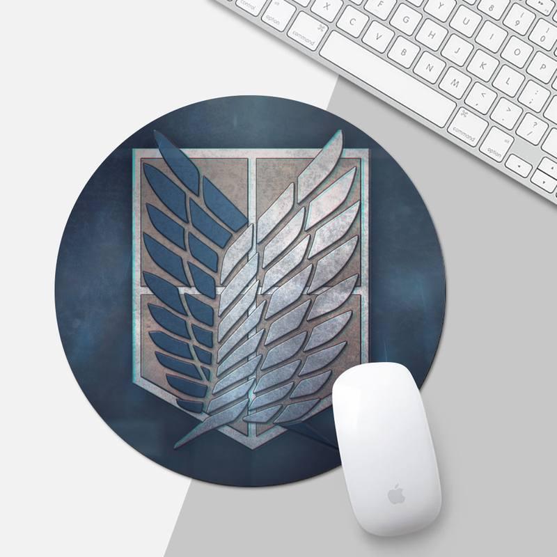 แผ่นรองเมาส์ Attack on Titan Gamer Speed Mice Retail Small Rubber Mousepad Mouse pad Desk Protect Game Officework Mat Cushion mousepad