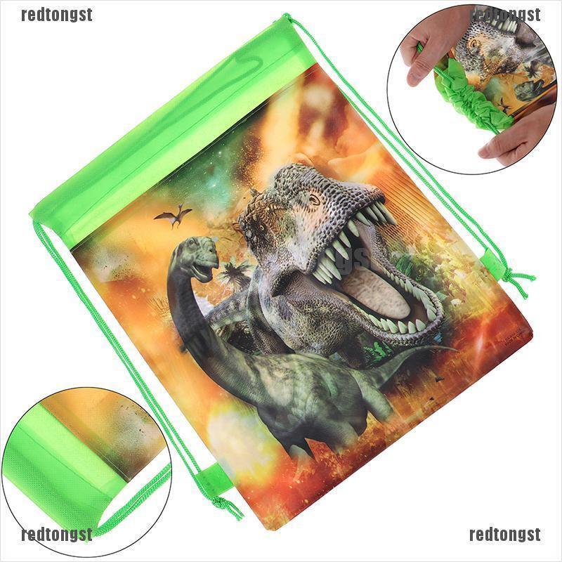 (redtongst) กระเป๋าเป้สะพายหลังลายไดโนเสาร์เหมาะกับการพกพาเดินทาง (สีแดง) 1 ชิ้น