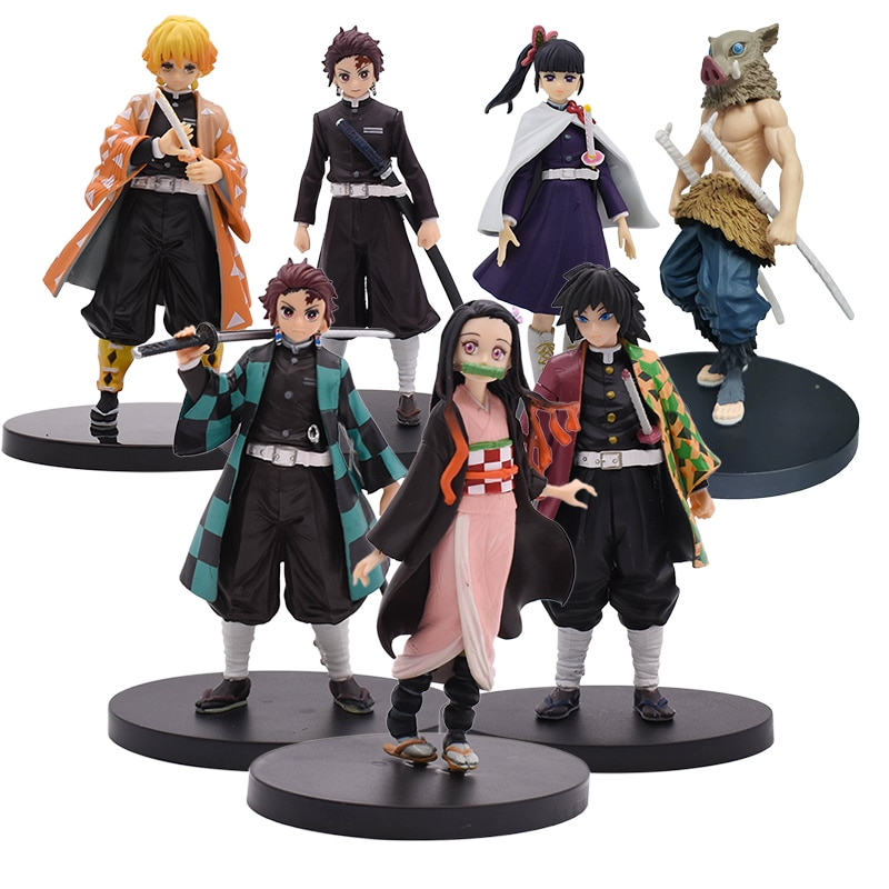 16cm Kimetsu no Yaiba Figure Tanjirou Nezuko Inosuke figurine Anime Demon Slayer Action Figure Demon blade figures Model