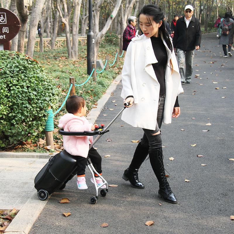 ≩ぅ กระเป๋าเดินทางล้อลาก กระเป๋าเดินทางล้อลากใบเล็กสวิสเมตรสูงกับเด็กขี้เกียจกระเป๋าสามารถติดตั้งกรณีรถเข็นสามารถขึ้นเครื