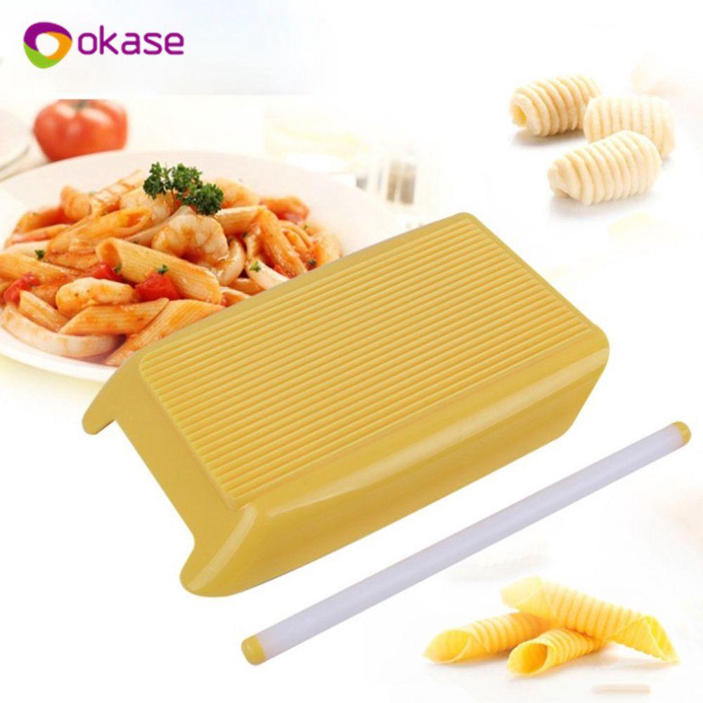 Pasta Macaroni Board Spaghetti Gnocchi Maker Rolling Pin Kitchen Baby Food To~GN