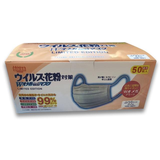 หน้ากาก Biken ของญี่ปุ่น หนา 3 ชั้น ป้องกันเชื้อโรค