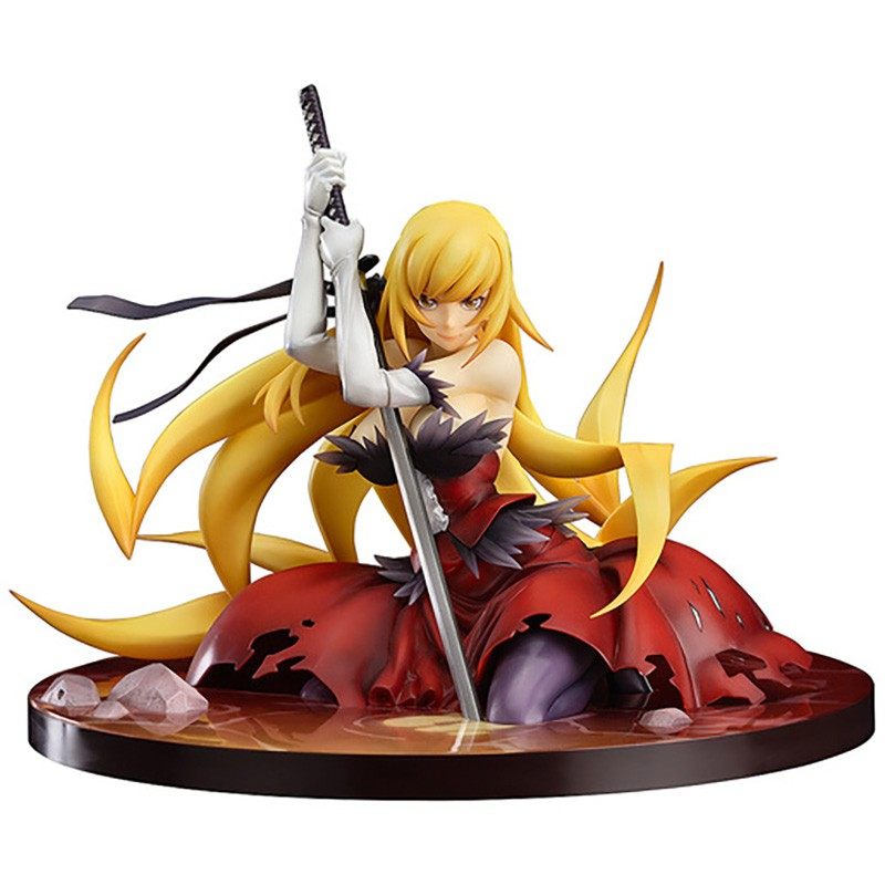 Monogatari Nisemonogatari Oshino Shinobu weapon 12CM Anime Figures PVC Action figure toy Model Toys Sexy Girl Collection