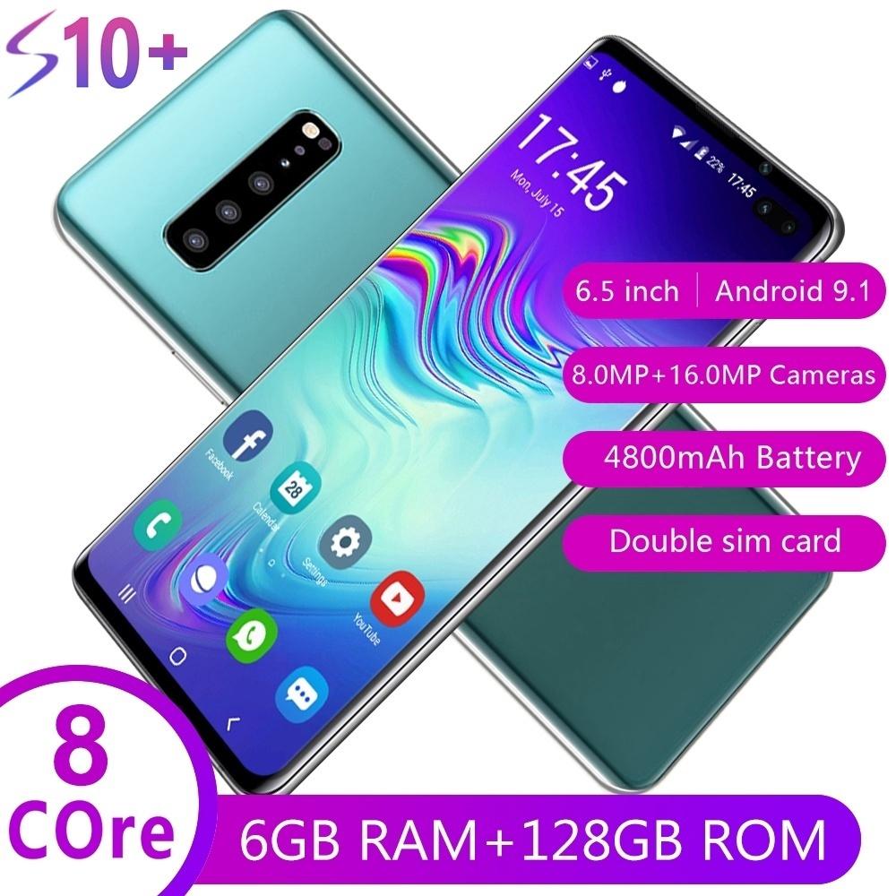 สมาร์ทโฟน Android พร้อมหน้าจอ 6 . 5 นิ้ว 4 G 6+128 Gb ขนาดใหญ่